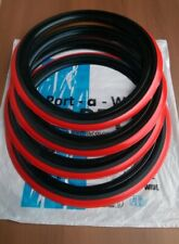 """New 4X 16"""" Rim Black Red wall Topper Universal Tire insert Tyre Trim Red line"""