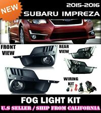 15 16 SUBARU IMPREZA Fog Light Driving Lamp Kit w/ switch wiring (CLEAR)
