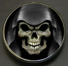 Skull in Hood Custom Gas Cap Fits Harley Davidson Road King V Twins