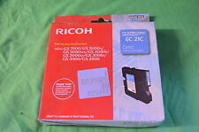 NRG Ricoh GC21C Cyan GC  21C GX7000 GX5050N GX3050SF Genuine Date 2013 / 2014