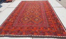 13'7 x 8'4 Large Handmade Afghan Tribal Kilim Area Rug Wool Kelim Carpet #6628