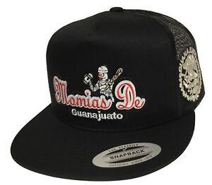MOMIAS DE GUANAJUATO LOGO FEDERAL 2 LOGOS HAT BLACK MESH NEW HAT