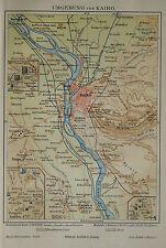 1890 ANTICA.STAMPA GEO-TOPOGRAFICA=DINTORNI DI CAIRO...
