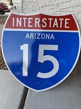 "Original Arizona I-15 Interstate, Highway, Route Sign 24"" X 24"" SUPER RARE!!"