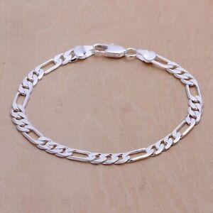 Stainless Steel Plated 6mm Link Chain Bracelet For Men Women