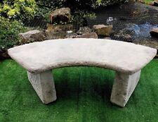 Classic Concrete Stone Curved Garden Bench Feature Quarter Circle