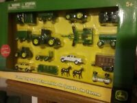 Licensed John Deere Farm Toy Set by Tomy NEW IN BOX