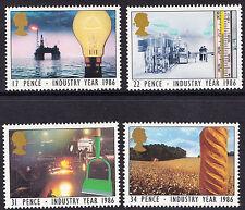 GB 1986 INDUSTRIA ANNO sg1308 - 1311 SET COMPLETO Unmounted MINT