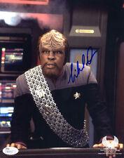 "(SSG) MICHAEL DORN Signed 8X10 Color""Star Trek"" Photo - JSA (James Spence) COA"