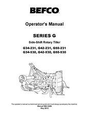 Befco Side Shift Rotary Tiller Series G G34 231 530 G42 231 530 G50 231 530 Oper