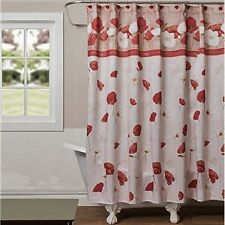 Saturday Knight Poppy Field  Fabric Shower Curtain NEW IN BAG