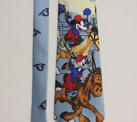 Vintage Classic Disney Mickey Mouse Donald Duck Mens Neck Tie Fulamj