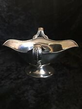 Edwardian Sterling Silver Sauce Boat Double Lipped  Chester 1907 Barker Bros