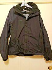 Marmot Mens Winter Jacket Black Full Zip Hooded Sz M Waterproof Wind Resistant