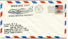 1977 Boeing 747 Space Shuttle Aircraft Flight 75 Fulton Mc Murtry Edwards USA