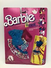 Vintage 1988 Barbie Weekend Collection Skirt Top Shoes NOS