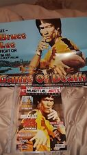 bruce lee game of death magazine plus film poster. new.last one left!