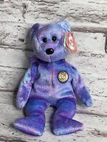 Ty Beanie Baby Clubby IV Purple Bear