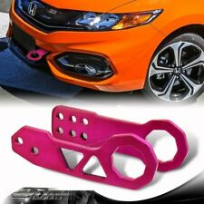 "2"" JDM Anodized CNC Billet Aluminum Front+Rear 2pcs PURPLE Racing Tow Hook Set E"