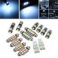 14Pcs White Car LED Plate Interior&Dome&License Plate Reading Light Festoon Bulb