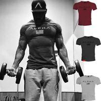 Gym Fitness Men Bodybuilding O-Neck T Shirt Sweatshirts Basic Crossfit Shirt Tee