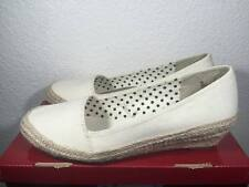 Esprit Wedge Heels Canvas Shoes MARY-E - Cream Color- Size 8 8 8 8 8