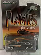 1955 Chevrolet Nomad 1:64 Scale Flame Series Greenlight 37200A