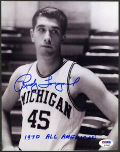 Rudy Tomjanovich SIGNED 8x10 Photo +All American Michigan FULL SIGNATURE PSA/DNA