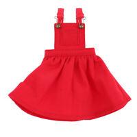 Niedliche Puppe Hosenträger Kleid mit Tasche Puppenkleider Für 12'' weibliche