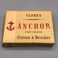 Vintage Clarks Anchor Thread Packaging Advertising Design Empty Box