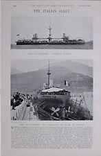 1897 BOER WAR ITALIAN NAVY BATTLESHIP ANDREA DORIA SPEZIA DOCK RE UMBERTO
