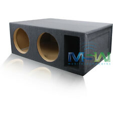 5.0 FT^3 TUNED @ 34Hz SLOT-VENTED CUSTOM MDF SUB ENCLOSURE for (2) 12-INCH SUBS