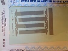 Microscale Decal N  #60-1252 Southern Pacific Hi-Cube Stripes & Arrows (use with