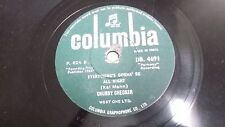 """CHUBBY CHECKER lets twist/everything INDIA INDIAN RARE 78 RPM RECORD 10"""" VG+"""