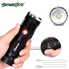 Led Recharable Powerful Flashlight XM-L2 LED U2 3 Mode USB Torch 26650 Battery