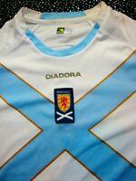 ✅ 🤩 Scotland Football Shirt 2007-08 Diadora Away Soccer Jersey SZ 12 YEARS
