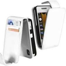 Housse Etui Portefeuille pour Samsung Player One S5230 Couleur Blanc