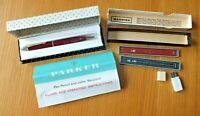 Vintage 1952 Parker 51 Mechanical Pencil Lustraloy Jewel Cap Spare Lead Jotter