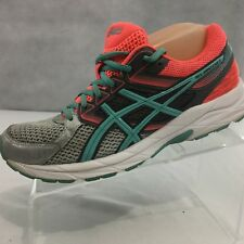 ASICS Gel contend 3 Sneakers Sz 9 Running Shoes Aqua Blue Neon Orange Silver