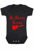 BABY BOY,GIRL,GOTH MY Mummy Rocks  BLACK VEST,BABYGROW,ROMPER,GIFT,BABY CLOTHES