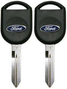 2 Transponder Chip Keys for Ford F150 F250 F350 Explorer & more