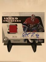 2006-07 SP Game Used Patrick Roy Inked Sweaters Jersey Auto 16/25