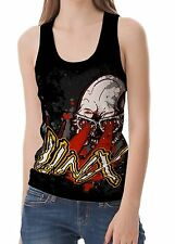Unbranded Cotton Blend Sleeveless T-Shirts Skull for Women