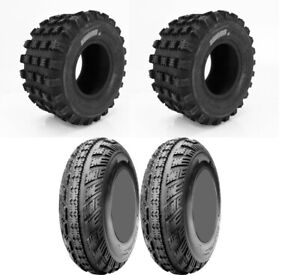 Four 4 CST Ambush ATV Tires Set 2 Front 21x7-10 & 2 Rear 20x10-9 Cheng Shin