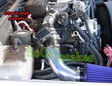 Black Blue 2pc Intake System Kit&Filter For 1996-1999 GMC K1500 5.0L/5.7L V8