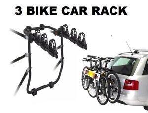 Car Bike Rack 3 Bike Travel Holder Universal Fit All Adjustable Easy Fit Remove