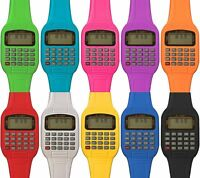 New Fashion Calculator Watch Vintage Retro 80s 90s Style 8 Colours Digital Cool