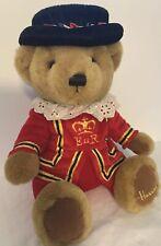 "New ListingHarrods Brown Teddy Bear Plush Knightsbridge Beefeater Royal Guard Sitting 11"""