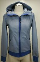 Lululemon Womens Sz 4 On The Daily Scuba Hoodie Jacket Blue Full Zip Sweatshirt
