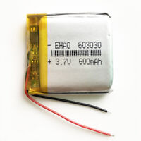 3.7V 600mAh 603030 Lipo Polymer rechargeable Battery For MID MP3 GPS bluetooth